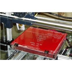 Plaque verre borosilicate pour lit chauffant MK2