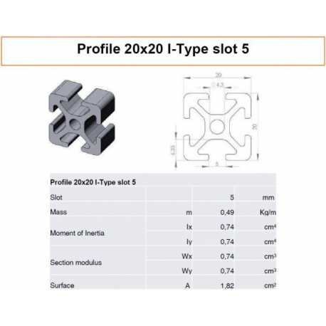 Profile Alu 20x20