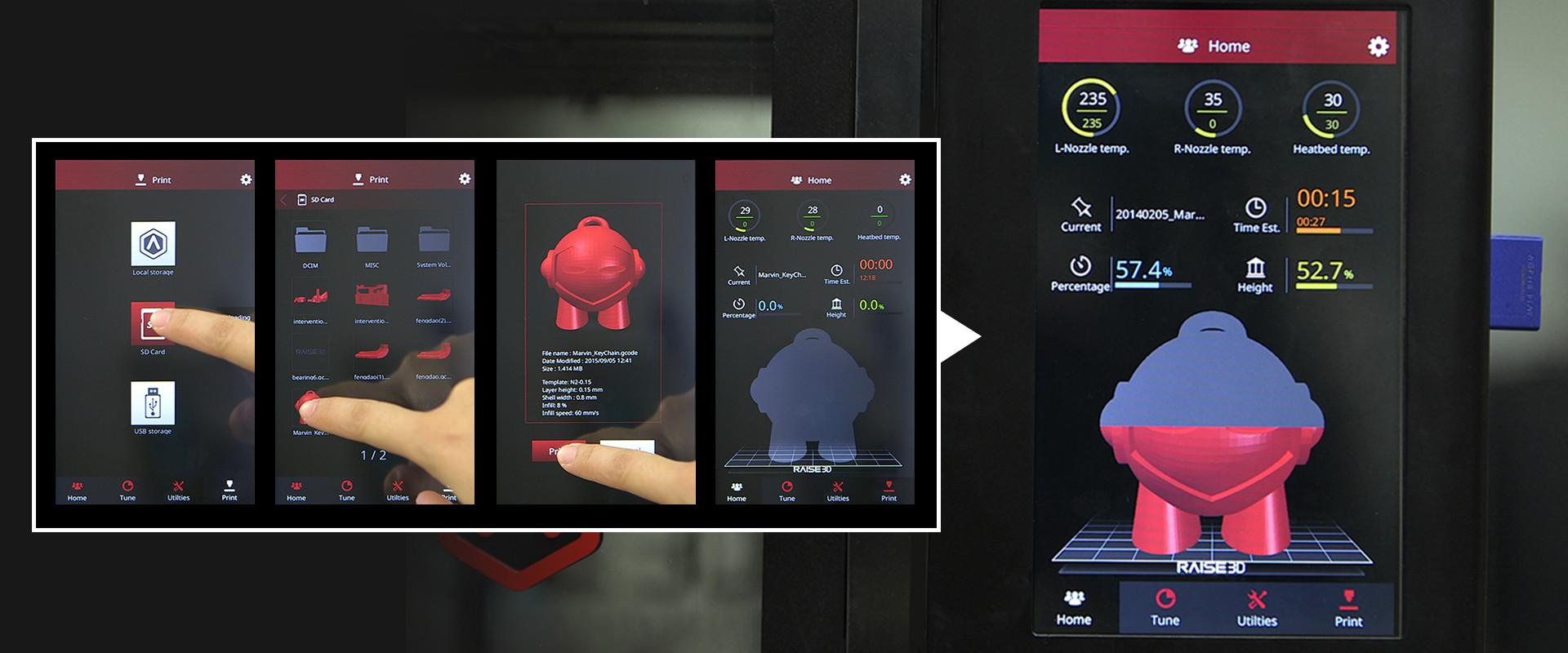 connection de la RAISE 3D